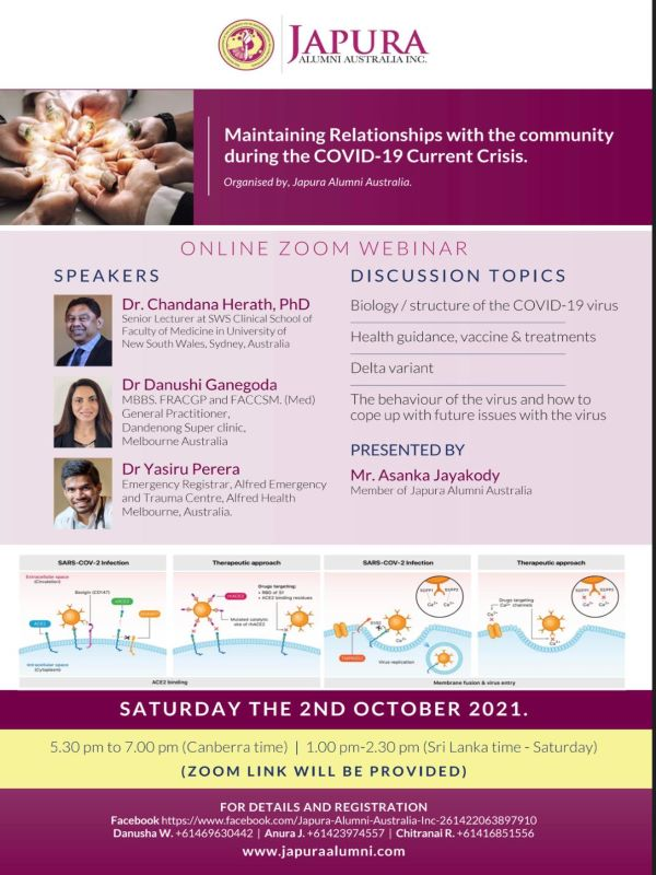 ZOOM WEBINAR ON MAINTAINING RELATIONSHIPS WITH THE COMMUNITY DURING THE COVID-19 CURRENT CRISIS